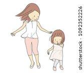 vector illustration of happy... | Shutterstock .eps vector #1092352226
