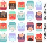 back to school backpack... | Shutterstock .eps vector #1092369752