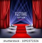festival night show poster.... | Shutterstock .eps vector #1092372326