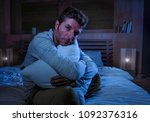 young sad and desperate man... | Shutterstock . vector #1092376316