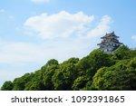 japan karatsu castle | Shutterstock . vector #1092391865