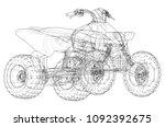 atv quadbike concept outline....   Shutterstock .eps vector #1092392675