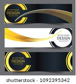 set vector abstract design... | Shutterstock .eps vector #1092395342