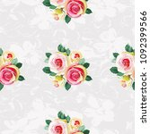 seamless floral pattern with... | Shutterstock .eps vector #1092399566