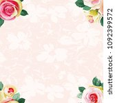 seamless floral pattern with... | Shutterstock .eps vector #1092399572