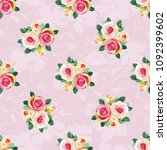 seamless floral pattern with... | Shutterstock .eps vector #1092399602
