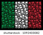 italian official flag flat... | Shutterstock .eps vector #1092403082