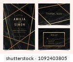 wedding invitation cards with... | Shutterstock .eps vector #1092403805