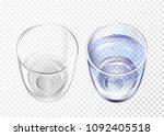 vector realistic glass empty... | Shutterstock .eps vector #1092405518