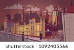 london plague epidemic vector... | Shutterstock .eps vector #1092405566