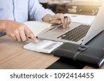 professional businessman... | Shutterstock . vector #1092414455