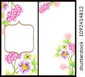 vintage delicate invitation... | Shutterstock .eps vector #1092414812