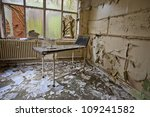 Hospital Bed In An Abandoned...