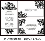 romantic invitation. wedding ... | Shutterstock .eps vector #1092417602