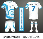 vector illustration of football ... | Shutterstock .eps vector #1092418646