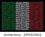 italian state flag flat collage ... | Shutterstock .eps vector #1092422816