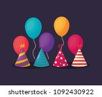 party hats design | Shutterstock .eps vector #1092430922