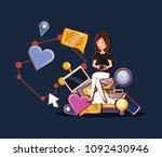 social media design | Shutterstock .eps vector #1092430946