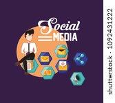 social media design | Shutterstock .eps vector #1092431222