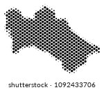 abstract turkmenistan map.... | Shutterstock .eps vector #1092433706