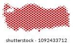 abstract turkey map. vector... | Shutterstock .eps vector #1092433712
