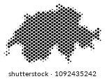 abstract swissland map. vector... | Shutterstock .eps vector #1092435242