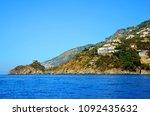 rocky coast of the... | Shutterstock . vector #1092435632