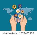social media design | Shutterstock .eps vector #1092439196