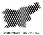abstract slovenia map. vector... | Shutterstock .eps vector #1092440462