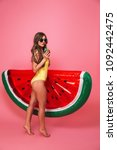 full length portrait of a sexy... | Shutterstock . vector #1092442475