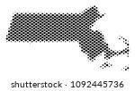 abstract massachusetts state... | Shutterstock .eps vector #1092445736