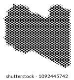 abstract libya map. vector... | Shutterstock .eps vector #1092445742