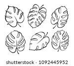 vector botanical illustration... | Shutterstock .eps vector #1092445952