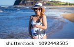 portrait of a pregnant woman in ... | Shutterstock . vector #1092448505