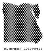 abstract egypt map. vector... | Shutterstock .eps vector #1092449696