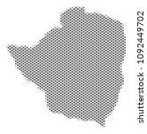 schematic zimbabwe map. vector... | Shutterstock .eps vector #1092449702