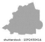schematic vatican map. vector... | Shutterstock .eps vector #1092450416