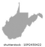 schematic west virginia state... | Shutterstock .eps vector #1092450422