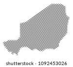 schematic niger map. vector... | Shutterstock .eps vector #1092453026