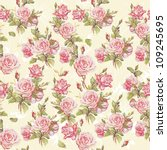 classic seamless floral... | Shutterstock .eps vector #109245695