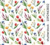 watercolor seamless pattern... | Shutterstock . vector #1092463832