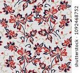 abstract seamless  flower... | Shutterstock .eps vector #1092468752
