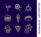 neon lights signs line icon set ...   Shutterstock .eps vector #1092469718