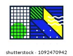 universal geometric colorful... | Shutterstock .eps vector #1092470942