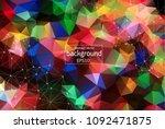 geometric colorful polygonal... | Shutterstock .eps vector #1092471875