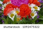 bouquet of flowers isolated on... | Shutterstock . vector #1092475322