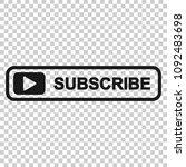 subscribe button icon. vector... | Shutterstock .eps vector #1092483698