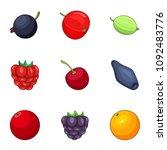 juicy icons set. cartoon set of ...   Shutterstock .eps vector #1092483776