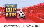 football cup 2018. football... | Shutterstock .eps vector #1092496868