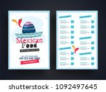 mexican menu for restaurant and ... | Shutterstock .eps vector #1092497645